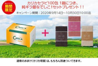 カリカセラピ100包 1箱につき、純ギラ銀なでしこ3色セットプレゼント!【期間限定キャンペーン】